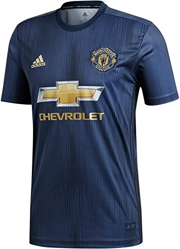adidas Herren MUFC 3 JSY T-Shirt, Collegiate Night Navy/Matte Gold, L -