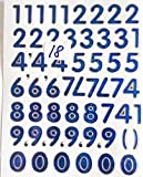 Klebe-Zahlen-Aufkleber-Sticker Bögen Zahlen zum auf-kleben selbst-klebend 2 Stück
