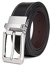 KAEZRI Pu Leather Black belt (1 Year Guarantee)-belt for men formal-belts for men-gifts for men-belts men-belts for men casual stylish
