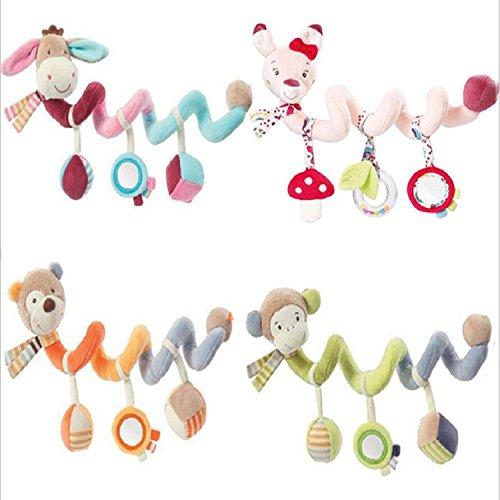 Infant Baby Kinderwagen Buggy Bett Spirale Aktivität hängende Spielzeuge Kleinkinder Twisty Spirale Kinderwagen Musical Bett Cartoon-Spielzeug Geschenke