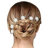Perle simulée pour mariée Fleur pince à cheveux mariage promo accesoire en argent