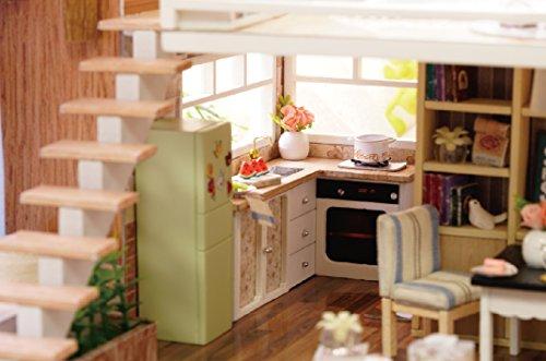 Kit in miniatura per casa delle bambole fai da te in legno