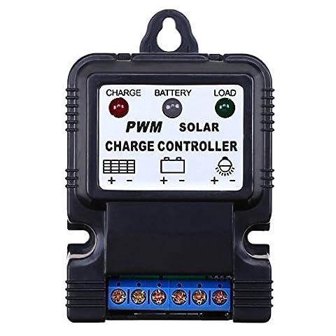 Goodchanceuk 10A PWM Panneau solaire Régulateur contrôleur de charge de batterie 6V/12V commutateur automatique
