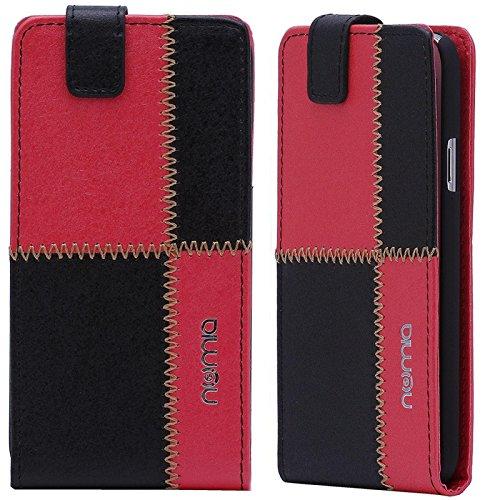 HTC Desire 310 Hülle, numia Handyhülle Handy Schutzhülle [Handytasche mit Standfunktion und Kartenfach] Pu Leder Tasche fürHTC Desire 310 Case Cover [Schwarz-Rot]