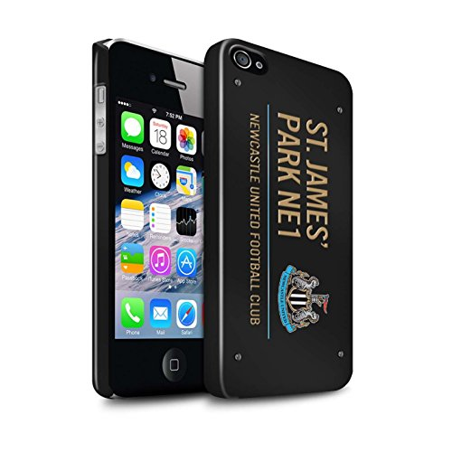 Offiziell Newcastle United FC Hülle / Glanz Snap-On Case für Apple iPhone 4/4S / Pack 6pcs Muster / St James Park Zeichen Kollektion Schwarz/Gold