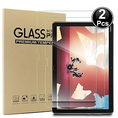 Ash-case 2xHuawei MediaPad M5 Lite LTE(10,1 Zoll) Bildschirmschutzfolie, HD Ultra-klar Anti-Kratz Anti-Fingerabdruck Bildschirmschutzfolie Glas Panzerglas, Ro&ed Corners 2.5D, 9H Härte