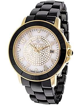 Stella Maris Damen-Armbanduhr Analog Quarz Premium Keramik Diamanten - STM13G413