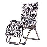 ZDY Klappstuhl Klappbarer Liegestuhl Verstellbar Garten-Lounge-Sessel Büro-Lunch-Lounge-Sessel Sitzender Liegestuhl Multifunktionaler Lazy Chair (Farbe : A)