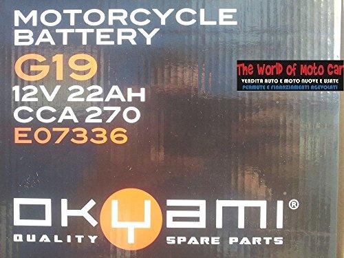 BATTERIA A GEL OKYAMI G19 CCA270 12V 22Ah PER BMW R 1100 GS 1994 - 2000