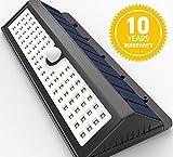 Himamk Himamk 62 LED Garten Solarleuchten, IP65 Outdoor Wandleuchte, Solar-Außensicherheits-Wandleuchten,Wasserdicht 1 Pack