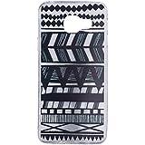Cuitan Transparente Souple TPU Gel Etui Housse Coque pour Samsung Galaxy A3 2016 Version (SM-A310F), (Motif Noir) Couverture Coque d'Arrière Housse de Protection Case Cover - Lignes Caractéristiques