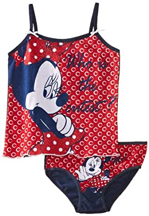 Disney Girls Minnie Mouse EN3027 Sleeveless Vest, Red (Red/Black), 5 Years (Manufacturer Size:4-5 Years)