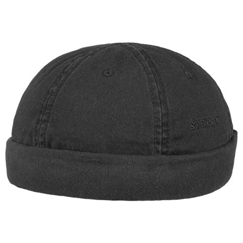 bonnet-ocala-docker-en-coton-stetson-fin-xl-60-61-noir