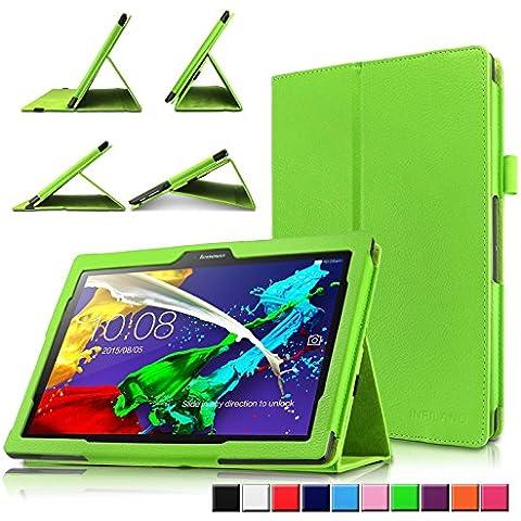 Infiland Lenovo TAB 2 A10-30F Funda Case-Folio PU Cuero Cascara Delgada con Soporte para Lenovo TAB 2 A10-30F 25,6 cm (10,1 pulgadas HD IPS) Media Tablet(con Auto Reposo / Activación Función)