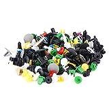 KIMISS, kit da 500 pezzi assortiti di clip di fissaggio per paraurti auto, in plastica