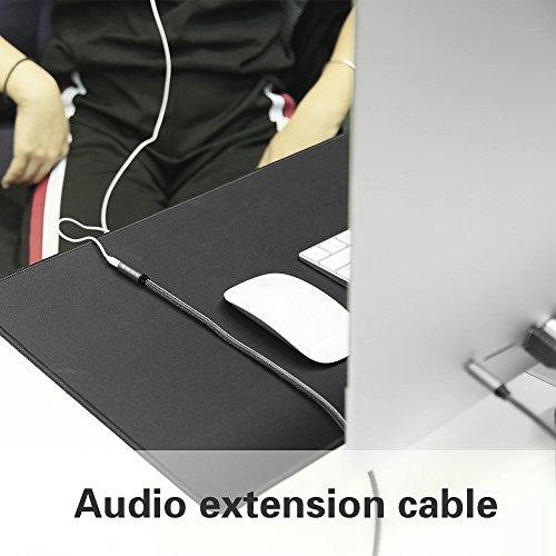 Klinke Verlängerung 1m, Victeck Nylon 3.5mm Stereo Klinken Audio Verlängerungskabel für AUX Eingänge Buchse Vergoldete Kontakte Kompatibel mit iPad,iPhone oder Smartphones,Tablets, Kopfhörer. - 7