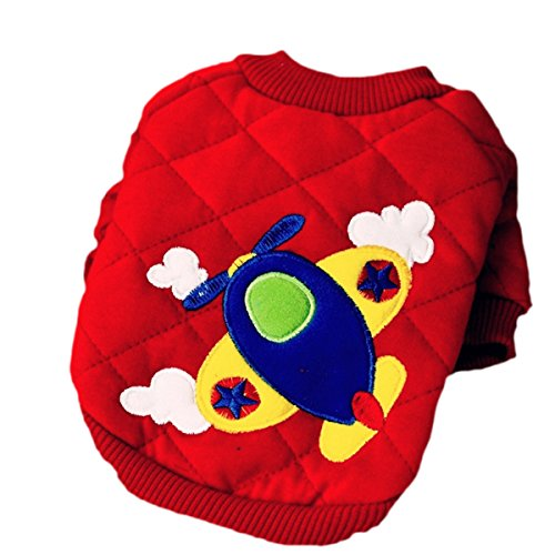 DUOZE Herbst Und Winter Carter Kleines Flugzeug Freizeit Haustier Kleidung Teddy Haustierkleidung,Blue-M