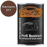 TRISTARcolor Autolack Set Dose spritzfertig Karmann 577 Braun Basislack 1,0 Liter 1000ml