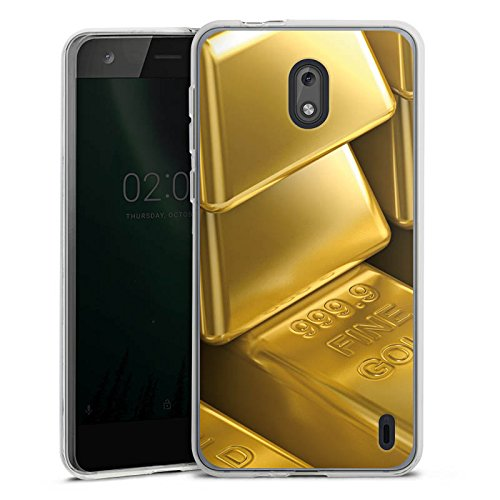 DeinDesign Nokia 2 Silikon Hülle Case Schutzhülle Goldbarren Gold Barren