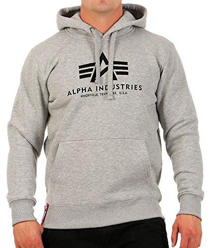 Alpha Industries Herren Hoodie Grey Heather