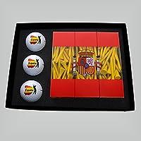 Golf–Set de regalo impresa Golf baelle & Golf Tees en Países Colores (España)