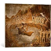"""Cuadro en lienzo: Luca Signorelli """"Charon, the Damned and the Archangels"""" - Impresión artística de alta calidad, lienzo en bastidor, 70x55 cm"""