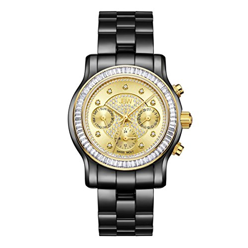 JBW Diamant Women's Stainless Watch LAUREL - black