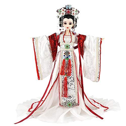 DoCori Chinesische Puppe mit Alten Kostüm, orientalische Seide Verkleidet Figur Puppe Statue für Desktop Dekor - Alten Chinesischen Kostüm