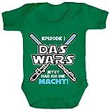 ShirtStreet Strampler mit Motiv Bio Baumwoll Baby Body kurzarm Junge - Das Wars jetzt hab ich die Macht!, Größe: 3-6 Monate,Kelly Green