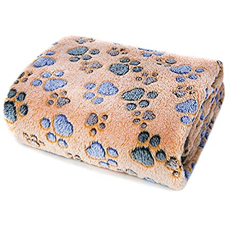 ALLISANDRO Hundedecke Flaushige Decke Super Softe und Warme Hundedecke Fleece Decke/Tier Schlafdeck M