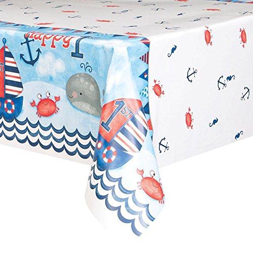 Unique Party Supplies Geburtstagsbanner, Partyzubehör, nautisches Motiv, für den 1.Geburtstag geeignet