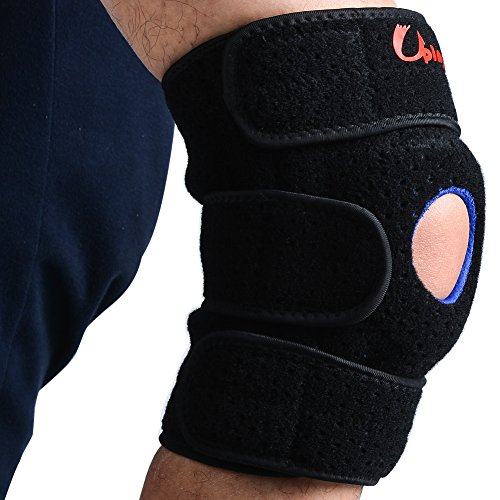 Uping Kniebandage sport knieschützer atmungsaktiver knieschoner Rutschfeste Kniestütze | verstellbare Knieorthese Gelenkschienen Patellaöffnung Klettverschluss Unisex