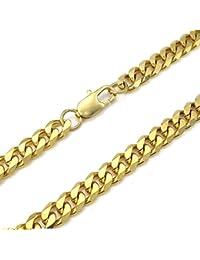 KONOV Joyería Collar de hombre, 8mm Clásicos Link, Cadena Longitud Opcional, Acero inoxidable, Color oro (con bolsa de regalo)