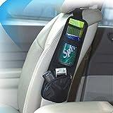 Dealglad® di Alta qualità Multifunzione Pratica Auto Veicolo Lato Sedia da Appendere Borsa portaoggetti Borse detriti Sacchetto, Tessuto, Black, 38x11.5cm