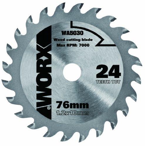 Worx WA5030 Kreissägeblatt für Holz, 24 Zähne, 76 mm