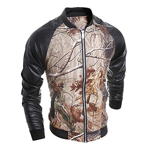 Blouson Enduit Homme - La Cabina Homme Manteau Jacket Blouson Slim