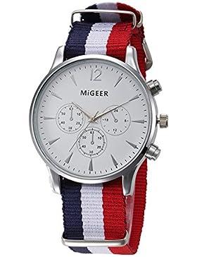 Lässige Klassisch Damenuhren Herrenuhren Quarzuhr Nylon Uhrenarmband Kleine Dekorative Zifferblatt Armbanduhren...