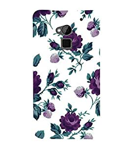 For HTC One Max :: HTC One Max Dual SIMfloral background, flower, purple flower Designer Printed High Quality Smooth Matte Protective Mobile Case Back Pouch Cover by APEX