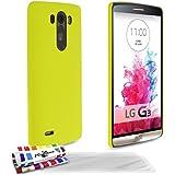 Muzzano F430174 - Funda para LG G3, incluye 3 protectores de pantalla, color amarillo