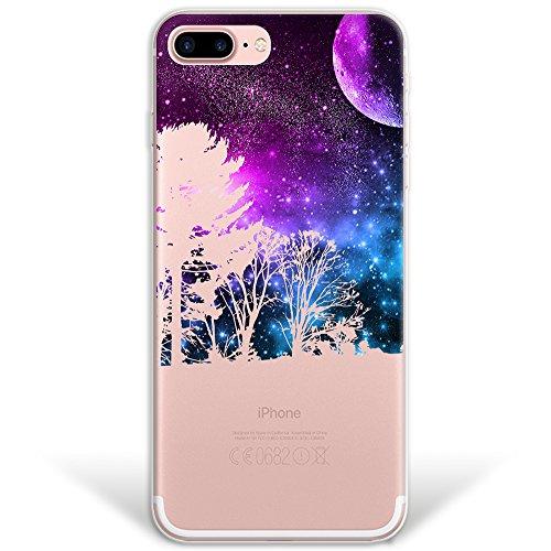 iPhone 7 Plus Hülle, WoowCase Handyhülle Silikon für [ iPhone 7 Plus ] Astronaut Gay Flagge Handytasche Handy Cover Case Schutzhülle Flexible TPU - Transparent Hybrid Hülle iPhone 7 Plus H0022