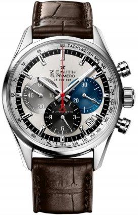 Zenith EL Primero 36000Vph Slver Cadran Cuir Marron montre pour homme 03.2150.400/69.c713