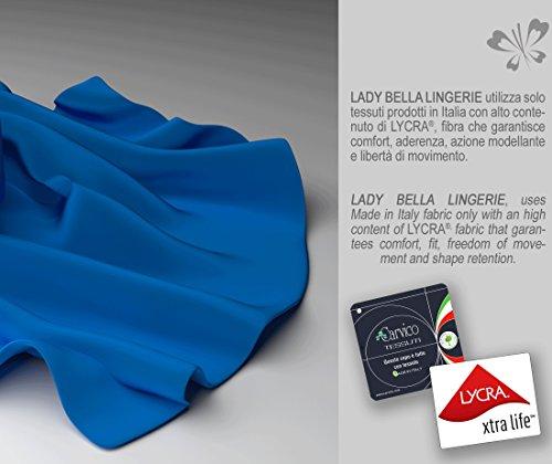 Shaping PA0792 BH Große Größen Cup C mit Bügel Vorgeformte Körbchen ohne Nähte aus Verdoppelter Mikrofaser und Eleganten Einsätzen aus Tüll von Lady Bella Lingerie Schwarz