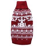 YZBear Hundebekleidung Hundemantel Hundejacke Weihnachten Rentier Hundepullover Warm Winter für kleine und große Hund