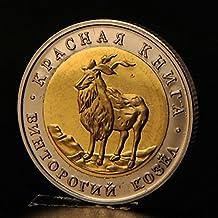 Yuver (TM) Russie r¨¦plique la faune Red Book Series Monnaie wild animal collecte des pi¨¨ces de monnaie russie