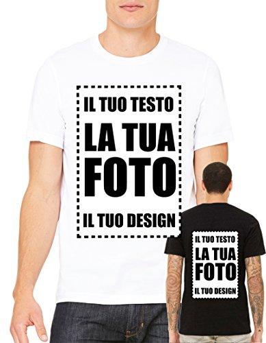 T-shirt regalo per papà personalizzata online con stampante diretta per tessuti (nelle immagini scheda misura) stampa fronte retro libera