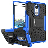 Bracevor Shockproof Lenovo k6 note Hybrid Kickstand Back Case Defender Cover - Blue