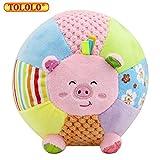 Baby Kleinkind Rasseln Stoffspielzeug Plüschtiere Tier Kugel mit 8 Töne Geschenk,Schwein