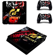 Hytech Plus Gran Turismo Sport Black Edition Theme Sticker For PS4 Slim Console & 2 Controllers