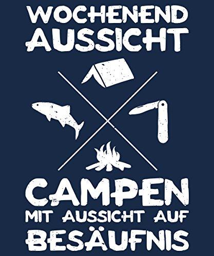 -- Wochenendaussicht Campen -- Boys T-Shirt Navy