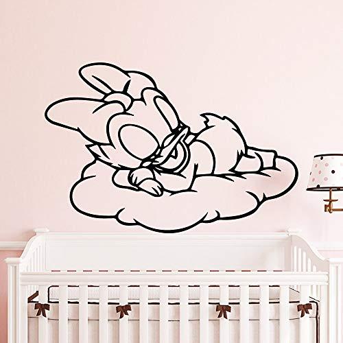 Tianpengyuanshuai Schlafende Ente Wandaufkleber Dekoration Mädchen Schlafzimmer Aufkleber Kinderzimmer Dekoration30x44cm